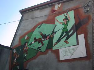Questo murales appartiene al comune di Saludecio ,una graziosa cittadina dal carattere medioevale,in provincia di Rimini.